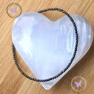 Hematite Tiny Faceted Beaded Bracelet